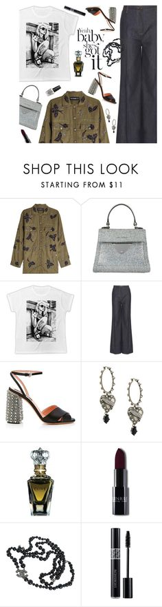 """""""Outfit of the Day"""" by sproetje ❤ liked on Polyvore featuring The Kooples, Coccinelle, Valentino, Rochas, Alexander McQueen, Clive Christian, Chanel, Christian Dior, OPI and ootd"""