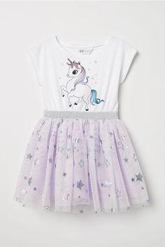 4d0e302537 Dress with Tulle Skirt. H&m UnicornUnicorn BirthdayBirthday Girl DressUnicorn  KidsWhite ...