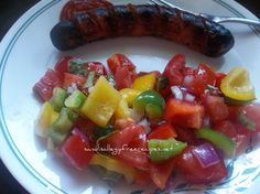 Tomato Basil Rainbow Salad