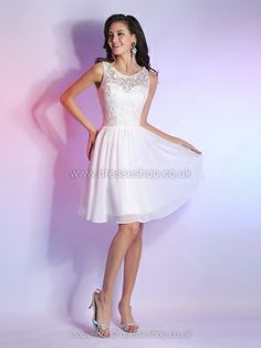 A-line Scoop Chiffon Short/Mini Lace Homecoming Dresses -�75.19
