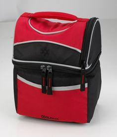 Vertical Design Double Compartment Insulated Lunch Case Pack 24