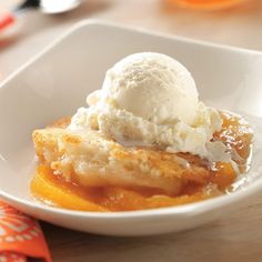 South Carolina Cobbler Recipe -With peach orchards just a couple of miles from home, it's easy to treat my family to this traditional dessert. —Mattie Carter, Rock Hill, South Carolina