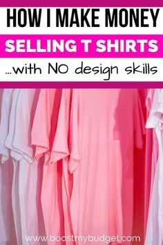 How I make money selling t shirts online - with NO design skills! I teach you exactly how to set up your own T shirt business selling shirts and other products online with print on demand sites to earn a passive income from home! by modestmoney Read Earn Money From Home, Way To Make Money, Make Money Online, Things To Sell Online, Money Fast, Importance Of Time Management, Tshirt Business, How To Make Tshirts, Making T Shirts