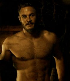 Travis Fimmel on Vikings.  A little too pretty normally but sexy as hell as Ragnar Lothbrok