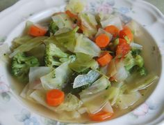 You'll Need: 1/4 head of cabbage, chopped 3 carrots, peeled and sliced 3 celery stalks, chopped 1 onion, chopped 2roma tomatoes, chopped 1 bunch of broccoli or ~2 cups of florets 32 oz. of chicke...