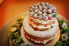 Naked Cake Sponge Victoria Layer Berries Cream Tipi Camping Rustic Post Wedding Celebration Party http://www.photographybyvicki.co.uk/