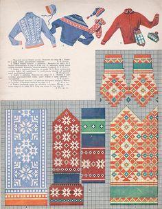 "VANAD MUSTRID: Koo järele! 1957. aasta kodumaisest ""Käsitöö Albumist"" leiab hüpnotiseerivalt ilusaid kindamustreid - FORTE Mittens Pattern, Knit Mittens, Mitten Gloves, Embroidery Patterns, Knitting Patterns, Knitting Charts, Fair Isle Pattern, Ethnic Patterns, Pixel Art"