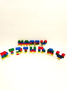 Lego® Alphabets Birthday Cake Decorations Lego® by TimelessToyBox