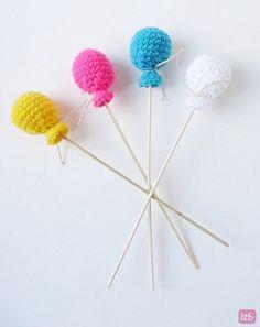 Como hacer globos aerostaticos amigurumi en crochet