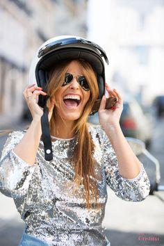 Cristina Ferreira | Lisboa | Look | Fashion | Daily Cristina | Street Style | Vestido Imperial | Sahoco | Casiraghi | Adidas | Rayban | mota | motocycle