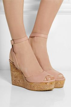 9e13111bcf11 Jimmy Choo - Philo embroidered leather wedge sandals