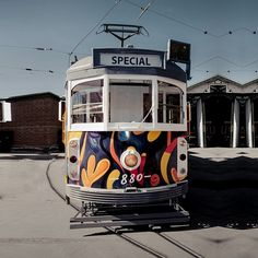 It's done!! The tram that we helped to conceptualise and design for the Art Series Hotel group, as part of 'The Schaller Studio' branding, has hit the streets of Bendigo. Featuring original art by hotel namesake artist Mark Schaller. Thanks to everyone involved. What a stellar team effort. Art Series, Studio S, Visual Merchandising, Effort, Original Art, Hotels, Branding, Group, Street