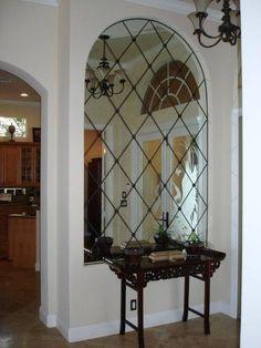 mirrored niche Niche Decor, Art Niche, Niche Design, Wall Design, House Design, Interior Exterior, Luxury Interior, Courtyard House Plans, Boutique Interior Design