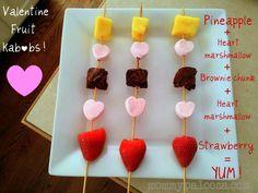 Valentine fruit kabobs #kids #snacks #easy