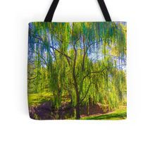 Weeping Gum Tree in Autumn at Malmsbury Tote Bag