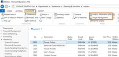 Product Information Repository. Links in Microsoft Dynamics NAV. TRIMIT ERP & Ecommerce Software.