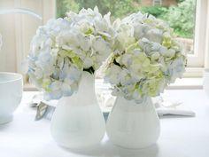 Create Fresh Flower Arrangements - White and Blue Bridal Shower Brunch on HGTV