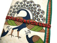 Dancing Peacock Indian Art Journal White Good by IndianJournals, $6.99