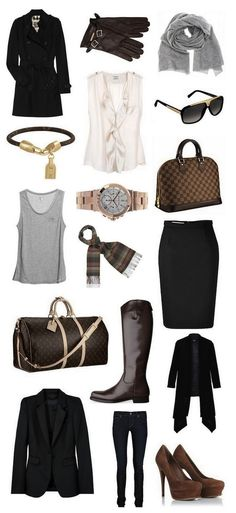 Basics for Work Wardrobe #fashion #business