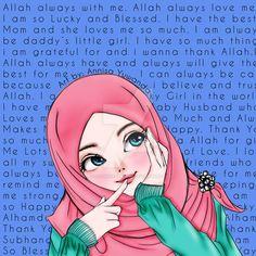 Positive Thinking Hijab Girl by Mylucidheartwork on DeviantArt