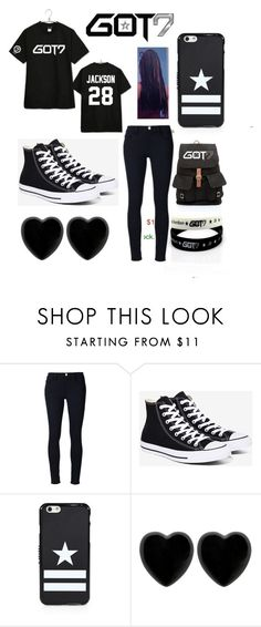 """Untitled #220"" by nayabieber21 ❤ liked on Polyvore featuring Frame Denim, Converse, Givenchy and Dollydagger"