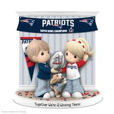 Limited-edition figurine honors the Patriots Super Bowl LI victory and your relationship. Handcrafted of fine bisque porcelain. NFL licensed!
