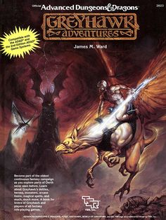 Greyhawk Adventures (1e/2e) - Greyhawk | Book cover and interior art for Advanced Dungeons and Dragons 1.0 - Advanced Dungeons & Dragons, D&D, DND, AD&D, ADND, 1st Edition, 1st Ed., 1.0, 1E, OSRIC, OSR, fantasy, Roleplaying Game, Role Playing Game, RPG, Wizards of the Coast, WotC, TSR Inc. | Create your own roleplaying game books w/ RPG Bard: www.rpgbard.com