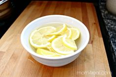 Cleaning Microwave With Lemons ~ Natural Cleaning Tip