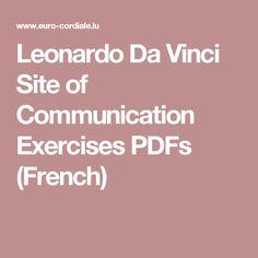 Leonardo Da Vinci Site of Communication Exercises PDFs (French)