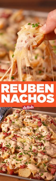 Forget sandwiches—make Reuben Nachos. Get the recipe on . Forget sandwiches—make Reuben Nachos. Get the recipe on . Irish Recipes, Mexican Food Recipes, Beef Recipes, Cooking Recipes, Recipies, Nachos, Yummy Appetizers, Appetizer Recipes, Reuben Recipe