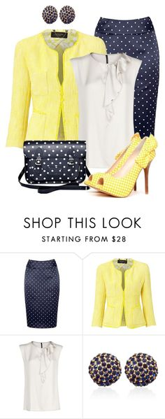 """""""Polka Dots & Gingham"""" by justbeccuz ❤ liked on Polyvore featuring Fearne Cotton, Weekend Max Mara, MANGO, Zatchels and White House Black Market"""
