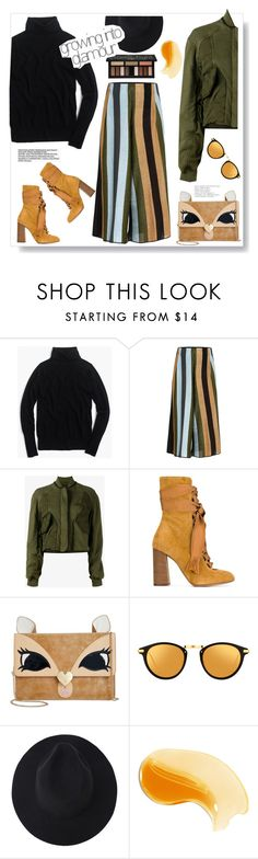 """Fall colors ."" by gul07 ❤ liked on Polyvore featuring J.Crew, Circus Hotel, Haider Ackermann, Chloé, Betsey Johnson, Linda Farrow and Kat Von D"