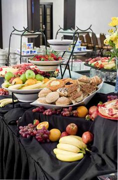 Delectable pastries and fruit for your guests to dine on before your big day at Weber's.