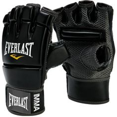 Everlast® Synthetic Leather MMA Kickboxing Gloves Black - Martial Arts/Accessories at Academy Sports