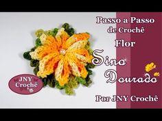 Passo a Passo de Crochê Flor Sino Dourado por JNY Crochê - YouTube