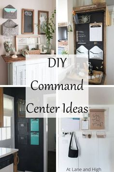 Between the ball games and recitals, school meetings, and work stuff it's so hard to stay organized and on top of everything. I have 21 different DIY Command Center Ideas to help you get on track and stay on track so you don't miss a thing!