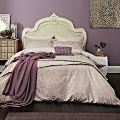 Atara Mauve Bedding by Bedeck 1951