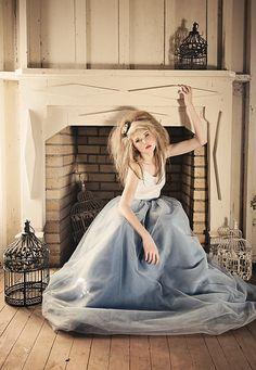 Beautiful Bird Girl-- Model Photography