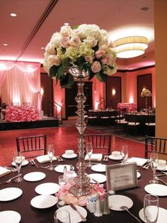 Wedding, Pink, Centerpiece, White, Brown, Ivory, Silver, Backdrop