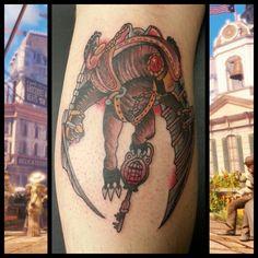 Traditional Songbird Tattoo from Bioshock Infinite by Steve Rieck Las Vegas