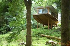 Amazing luxury tree house structure constructed using a Douglas Fir frame
