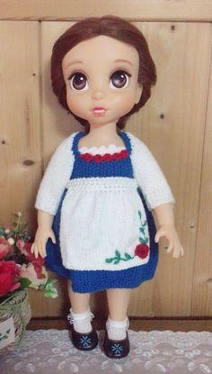 베이비돌 의상만들기 #뜨개인형옷 #벨의상 #베이비돌 #대바늘인형옷 #나린맘