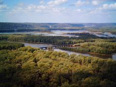 View of the Mississippi River from Wyalusing State Park--Wisconsin