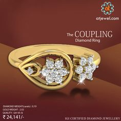 Design Of The Day..... ATJewel Presents a Beautiful Coupling Diamond Ring,Valentines Day Special.Shop Now at Best Prize. #ATJewel #Diamond #Ring #Gold #ValentinesDaySpecial  http://bit.ly/2jxtEdS