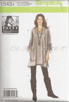 Lagenlook Sewing Patterns | Simplicity 1543, Commercial Sewing Pattern,Sewing Supplies, Misses ...