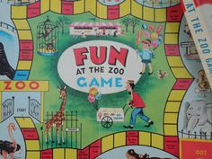 Vintage Board Game Fun At The Zoo Plus by InAnotherLifeVintage