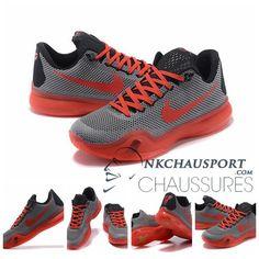 new arrivals db575 5f041 Nike Kobe Bryant 10  Nouvelle Chaussure De Basket Homme Mesh Mesh Grise  Rose