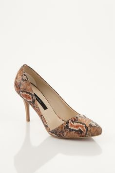 Snake Patterned High Heels by Nottis @Trendyol