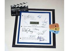 """Chuck """"Chuck vs The Ex"""" aka """"Chuck vs the Restraining Order"""" Episode TV Script Autographed: Zachary Levi, Yvonne Strahovski, Joshua Gomez"""