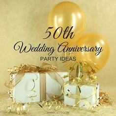 Golden anniversary: creative party ideas for the anniversary of your . Golden anniversary: creative party ideas for the anniversary of your favorite couple # 50 50th Wedding Anniversary Decorations, Wedding Anniversary Celebration, Golden Wedding Anniversary, Anniversary Gifts For Couples, Anniversary Ideas, Anniversary Scrapbook, Anniversary Invitations, Creative, Ideas Party